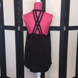 Kardashian Kollection black racerback tunic